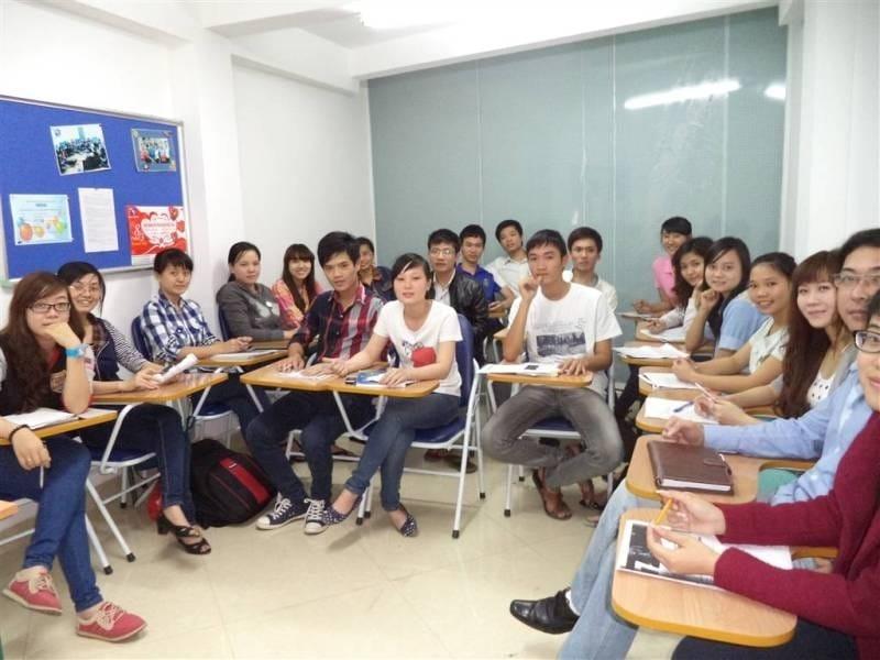 Lớp học tại Trung tâm Ngoại ngữ Đà Nẵng