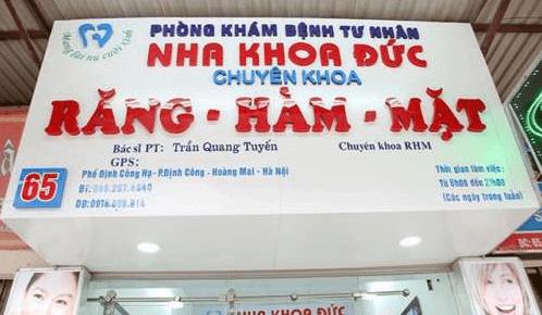 Nha Khoa Đức – Danh Sách Các Phòng Khám Nha Khoa Tại Quận Hoàng Mai TP. Hà Nội