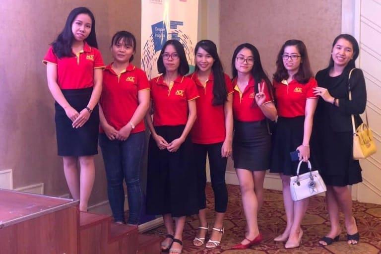 Đội ngũ nhân viên tại hệ thống Anh ngữ Á châu (Nguồn: Hệ thống Anh ngữ Á châu)