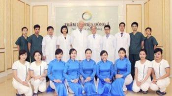 Đội ngũ nhân viên Thẩm mỹ viện Đông Á Bình Dương