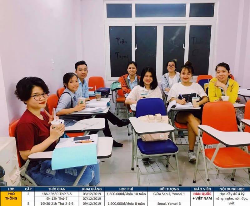 Trung tâm Học tiếng Hàn Không Khó